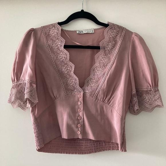 Zara Puff Sleeve Blouse